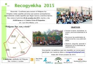 Verde. Cartel Recogymkha 2015.